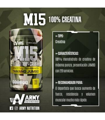 Creatina M15 Jumbo de Army Nutrition 1.1kg