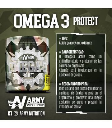 Omega 3 de Army Nutrition 90 Caps Aceite de Salmón