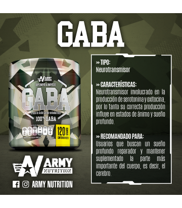 Gaba de Army Nutrition 30 Servicios