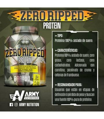 Zero Ripped Protein 4lbs de Army Nutrition sabor Capuchino
