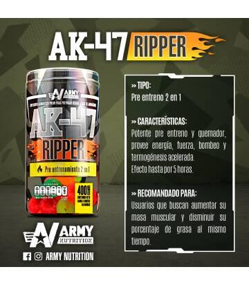 Ak 47 Ripped 2 en 1 de Army Nutrition sabor Gomitas