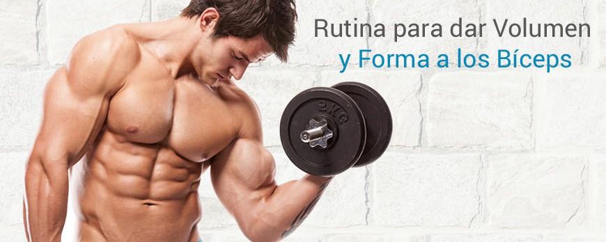 Rutina para dar volumen y forma a los bíceps